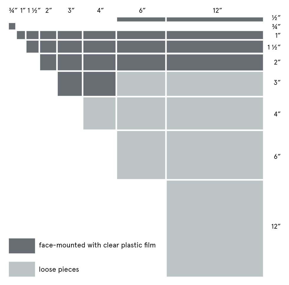 Reflections Size Chart